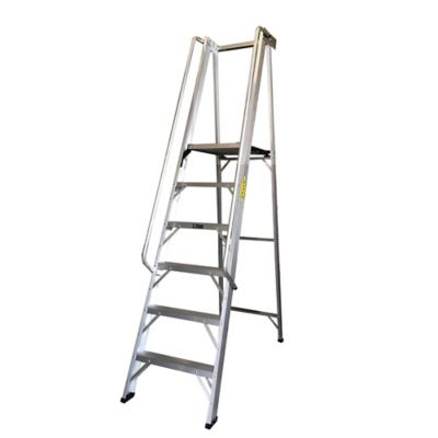 Escalera Tipo Plataforma en Aluminio de 1,80 Metros Tipo IA de 136 Kilogramos de Resistencia