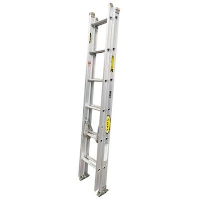 Escalera Certificada de Extension en Aluminio 12 Pasos 2 a 4 Metros de 136 Kilogramos de Resistencia