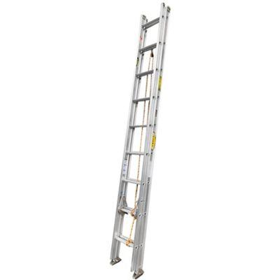 Escalera de Extension en Aluminio 18 Pasos 3.0 a 6mt Resistencia 136kg