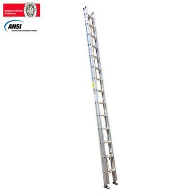 Escalera de Extension en Aluminio 28 Pasos 5.0 a 10mt Resistencia 136kg