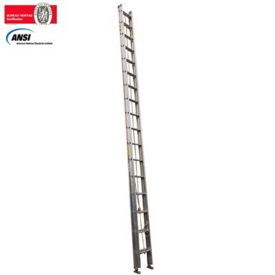 Escalera Certificada de Extension en Aluminio 34 Pasos 6 a 12 Metros de 136 Kilogramos de Resistencia