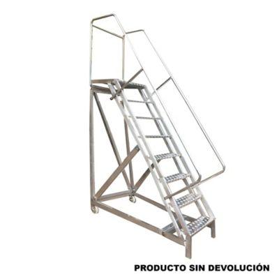 Escalera Tipo Avion en Aluminio 2,00 Metros  de 136 Kilogramos de Resistencia