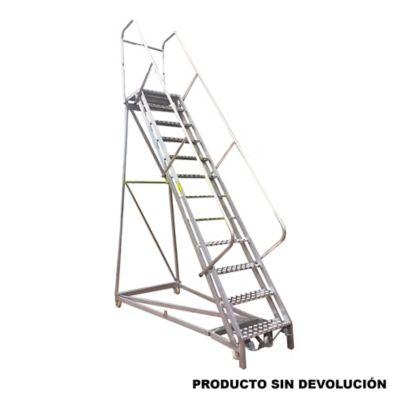 Escalera Tipo Avion en Aluminio 3,00 Metros de 136 Kilogramos de Resistencia