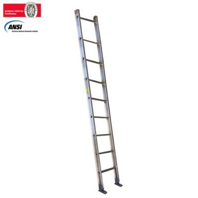 Escalera Certificada de Pared Aluminio 9 Pasos 3,00 Metros de 136 Kilogramos de Resistencia
