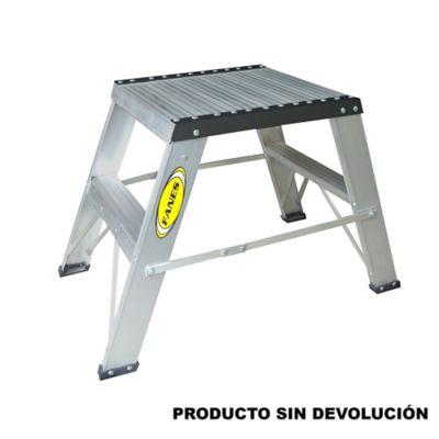 Escalera Certificada de Petrolera 2 Pasos 0,60 Metros Aluminio de 136 Kilogramos de Resistencia