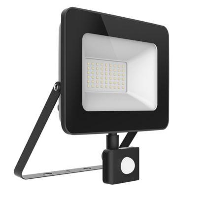 Reflector Negro Slim Led 50w L/Blanca C/Sensor Hal