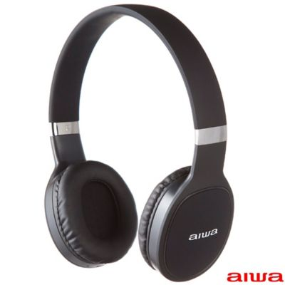 Audifonos On Ear Deportivos Bluetooth / Microfono Incorporado / Negro /  Aiwa