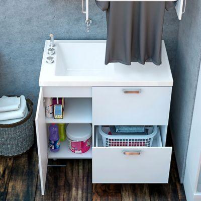Lavadero Pro 100x60 cm Izquierdo Brillante Blanco