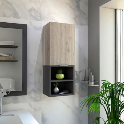 Mueble Auxiliar para Baño Jules 80x30x25 cm Ceniza - Plomo