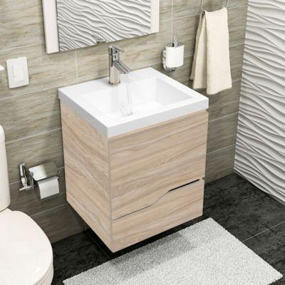 Mueble de baño 48x43 cm con lavamanos Oslo Blanco