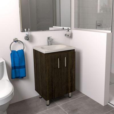 Mueble de baño a Piso Basic Tabaco Chic 48x38cm con lavamanos Eco Beige