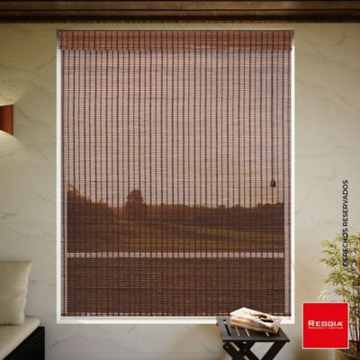 Cortina Enrollable Bambú 120x170 cm Café Bangkok