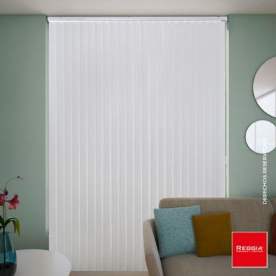 Persiana Vertical Pvc Textur 160x220 cm Blanco
