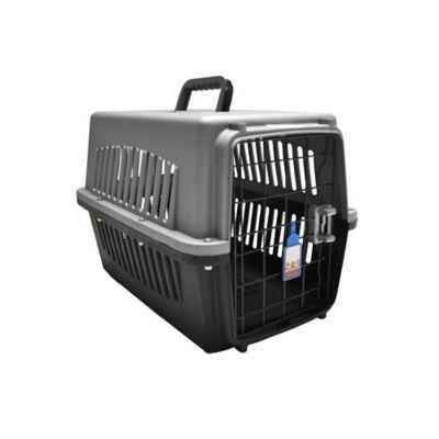 Guacal Plástico #1 para Perros 50 x 32 x 34 cm Gris - Negro