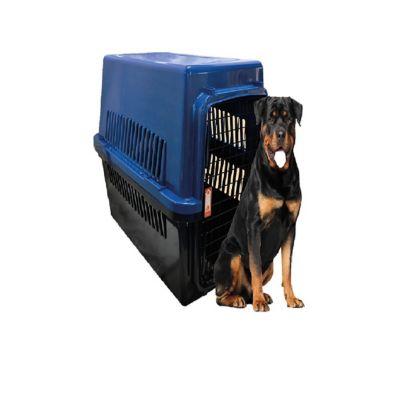 Guacal Plástico Extra Grande # 7 para Perros 123 x 78 x 90 cm Negro - Azul