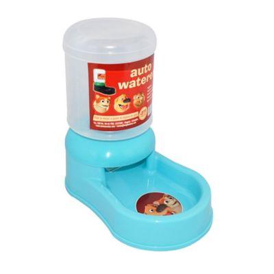Comedero Plástico Dosificador de Alimentos y Botellón de Agua para Mascotas 27,5 x 16 x 26 cm Azul