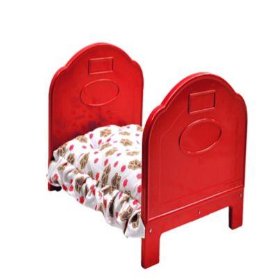 Cama de Lujo Pequeña para Perros 48,5 x 37 x 30,5 cm Rojo
