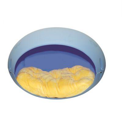 Cama Huevo Plástica con Colchón para Mascotas 40 x 64 x 40 cm Azul