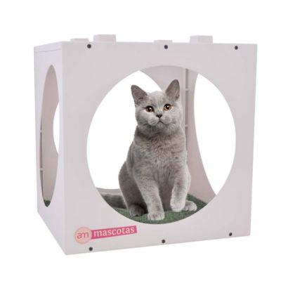 Casa Plásticas Círculos para Gatos 40 x 40 x 33 cm Beige