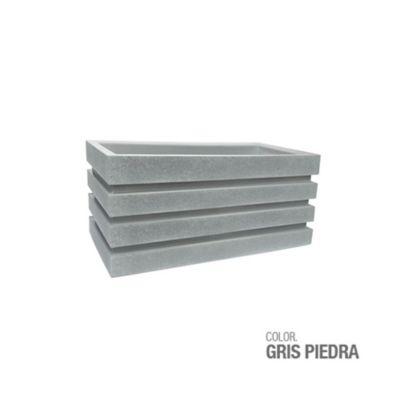 Jardinera Polietileno Gris Piedra 70 x 30 x 33 cm