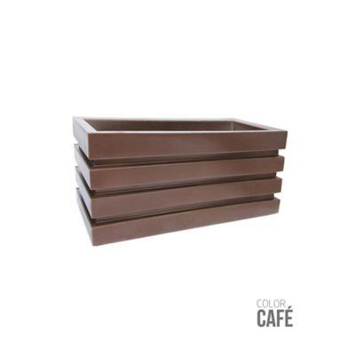 Jardinera Polietileno Café 70 x 30 x 33 cm