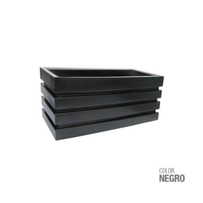 Jardinera Polietileno Negra 70 x 30 x 33 cm