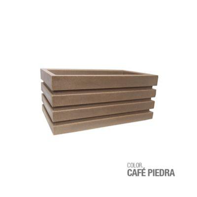 Jardinera Polietileno Café Piedra 70 x 30 x 33 cm