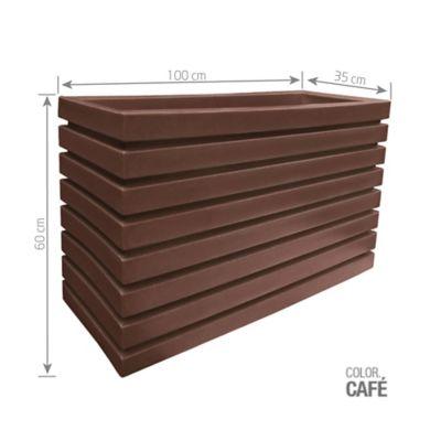 Jardinera Polietileno Café 100 x 35 x 60 cm