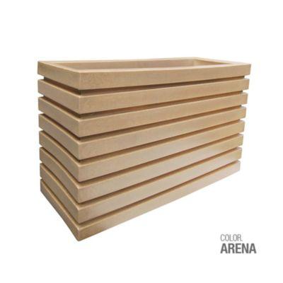 Jardinera Polietileno Arena 100 x 35 x 60 cm