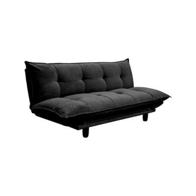 Sofá Cama Pillow 3 Puestos Tela Negro