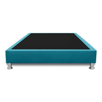 Base Cama Completa Sencilla 100x190cm Microfibra Azul