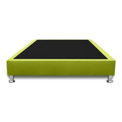 Base Cama Completa Sencilla 100x190cm Microfibra Verde