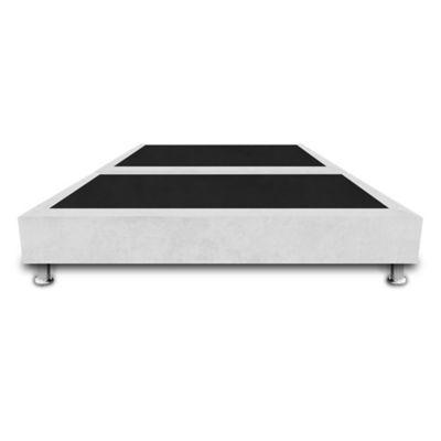 Base Cama Dividida Doble 140x190cm Microfibra Blanco