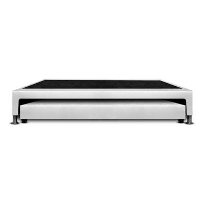 Base Cama Nido Sencilla 190x100x30cm Microfibra Blanco