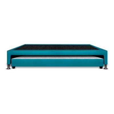 Base Cama Nido Semidoble 190x120x30cm Microfibra Azul