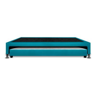 Base Cama Nido Doble 190x140x30cm Microfibra Azul