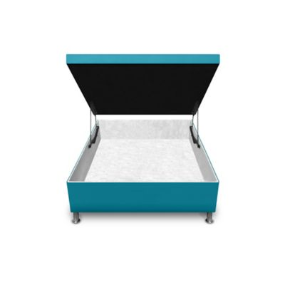 Cama Baúl Semidoble 190x120x33cm Microfibra Azul
