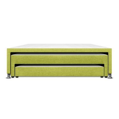 Base Cama Nido Doble 3 Niveles 190x140x48cm Microfibra Verde