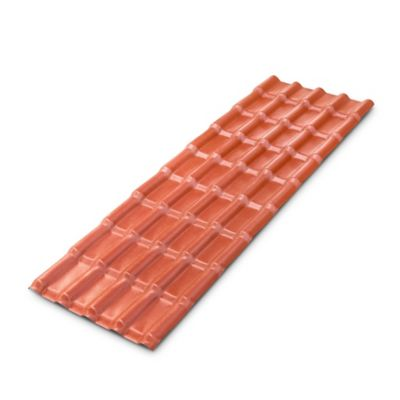 Teja Colonial Rojo 1.97X0.72mt 2.3mm UPVC