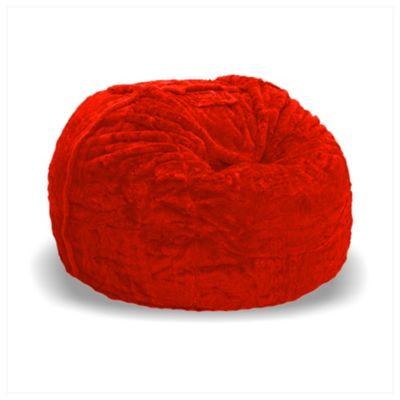 Sillón Puff Supreme Ultrasoft de 60x100x100cm Rojo
