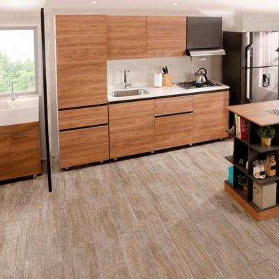Cocina Integral Soho 1.80m 6 puertas 1 cajón Miel Incluye Mesón Izquierdo + lavaplatos + estufa empotrable + cubertero