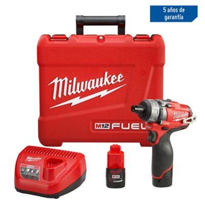 Set Atornillador Inalámbrico Milwaukee M12 Fuel 1/4 Pulgada Hexagonal 12 Voltios 2 Velocidades