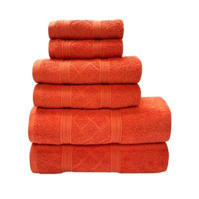 Set de Toallas x 6 Radiance Naranja