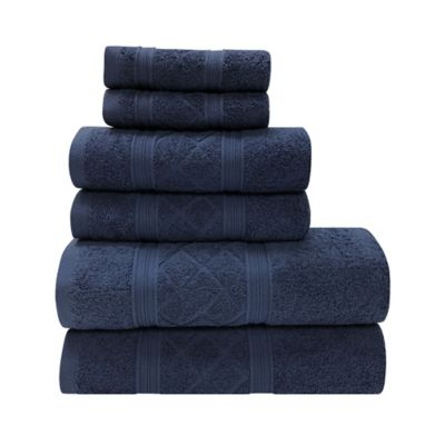 Set de Toallas x 6 Radiance Azul Oscuro