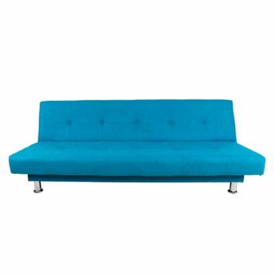 Sofá Cama Basic 3 Puestos Tela Azul