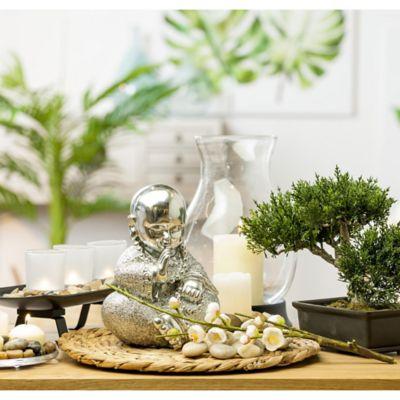 Escultura Buda Plata 21 cm
