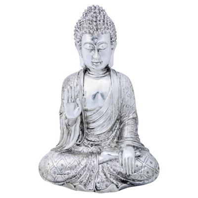 Escultura Budda Plata 29.5 cm