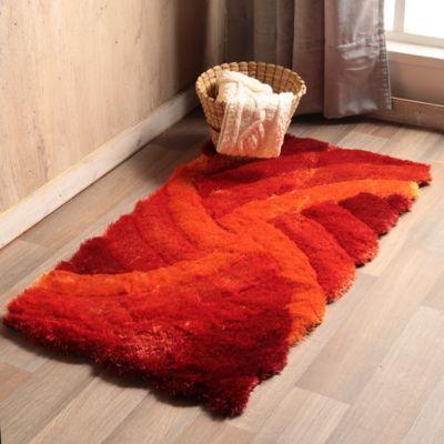 Tapete Shaggy 3D 60x110 cm Naranja