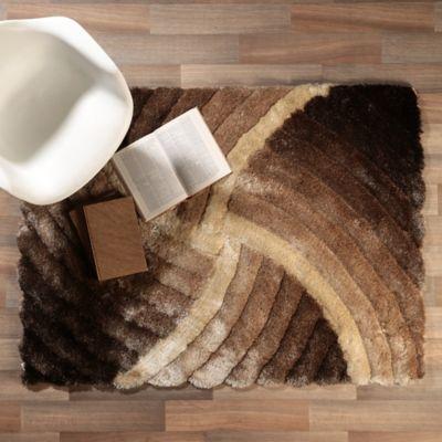 Tapete Shaggy 3D 120x170 cm Café
