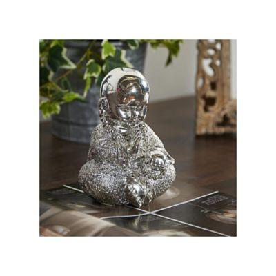 Escultura Buda Plata 16 cm